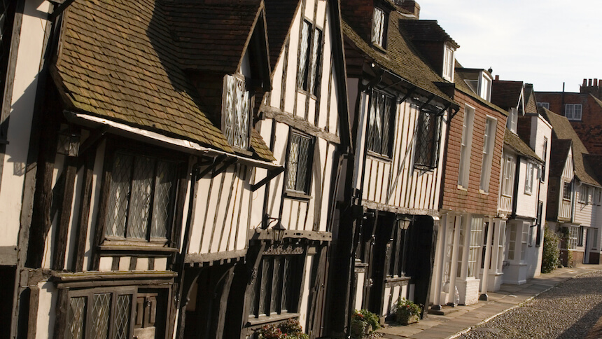 The historic town of Rye, East Sussex