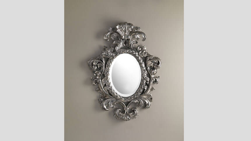 Hand carved mahogany Salome mirror