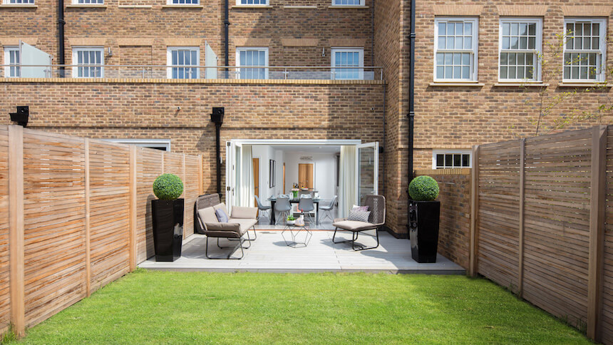 Garden at St Agnes Place show home
