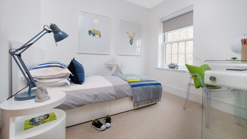 Third bedroom at St Agnes Place show home
