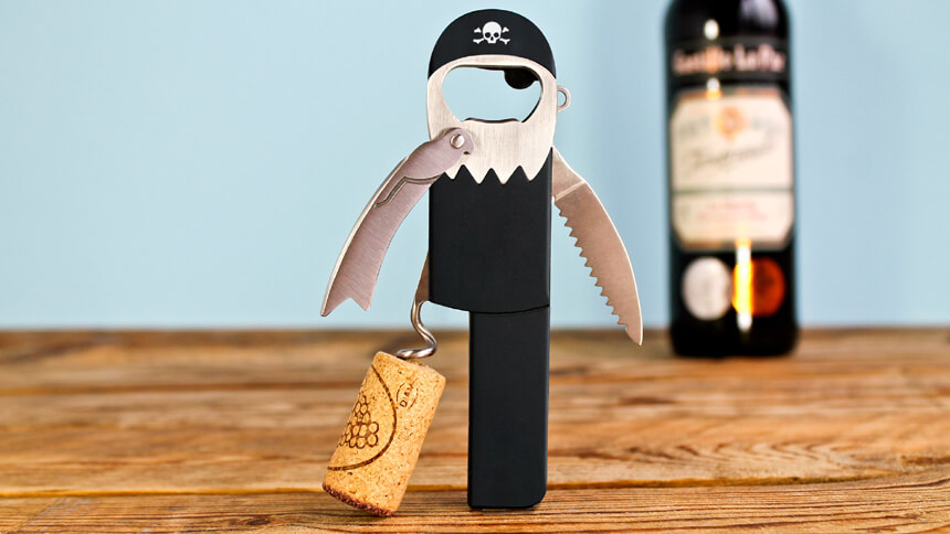 Pirate style bottle opener