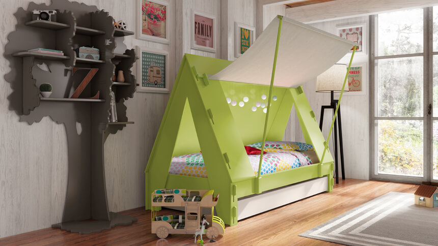 DesResDesign's tent bed