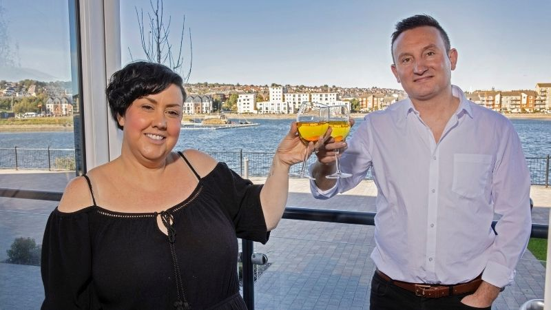 New homeowners at Latitude at The Quays, Laura and Steven Richards