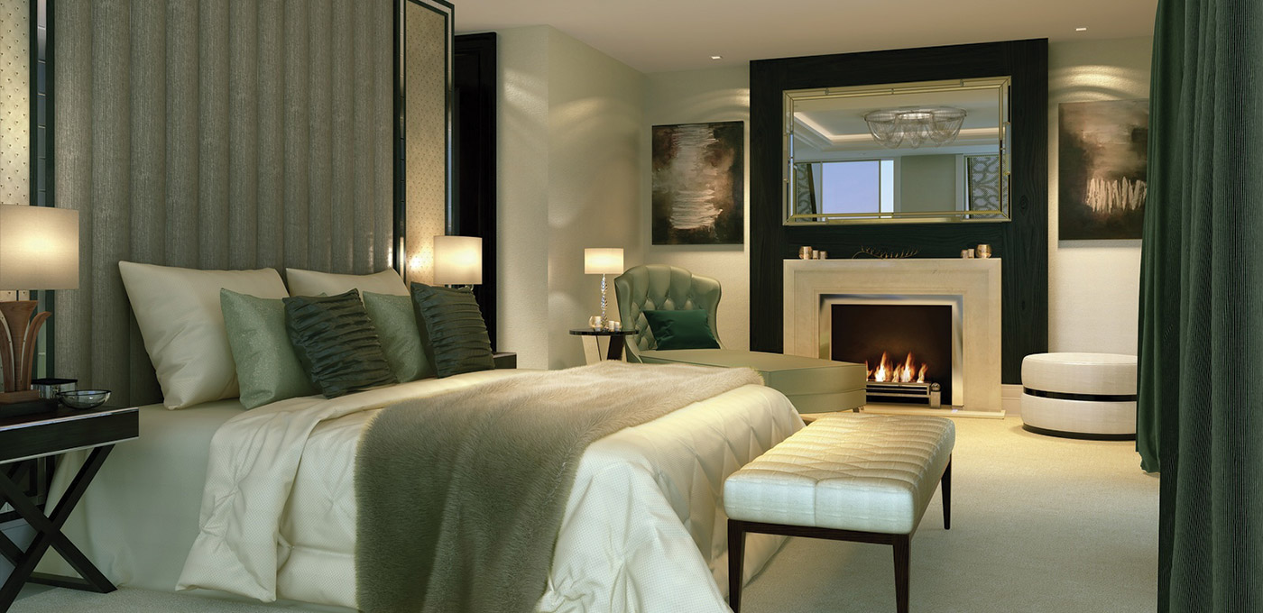 St Edward, 190 Strand, Penthouse Master Bedroom, CGI, Interior