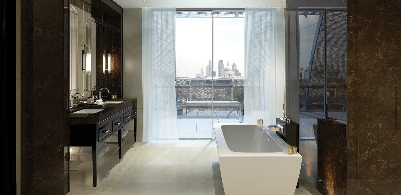 St Edward, 190 Strand, Penthouse En Suite Bathroom, CGI, Interior