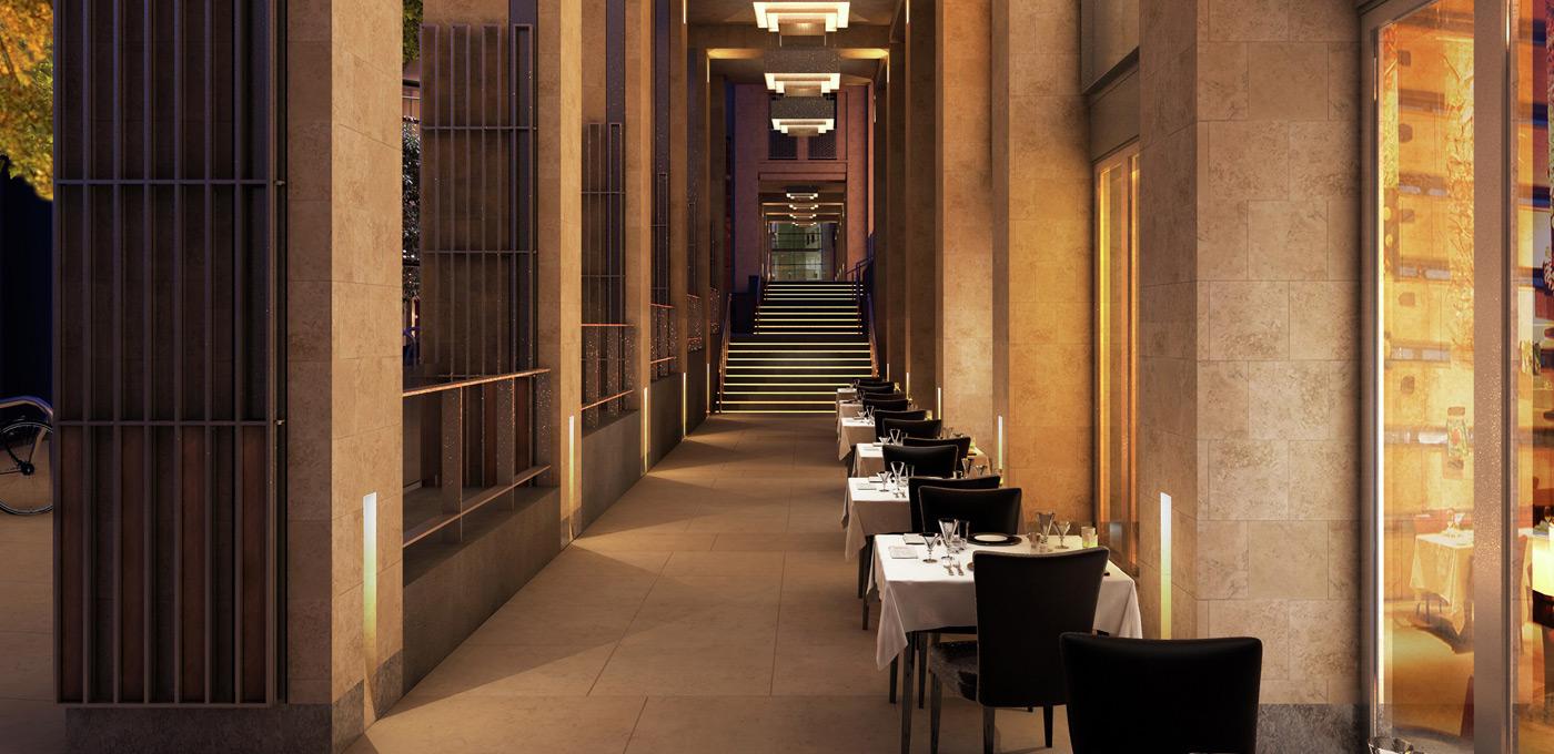 St Edward, 190 Strand, Planned, Restaurant, CGI