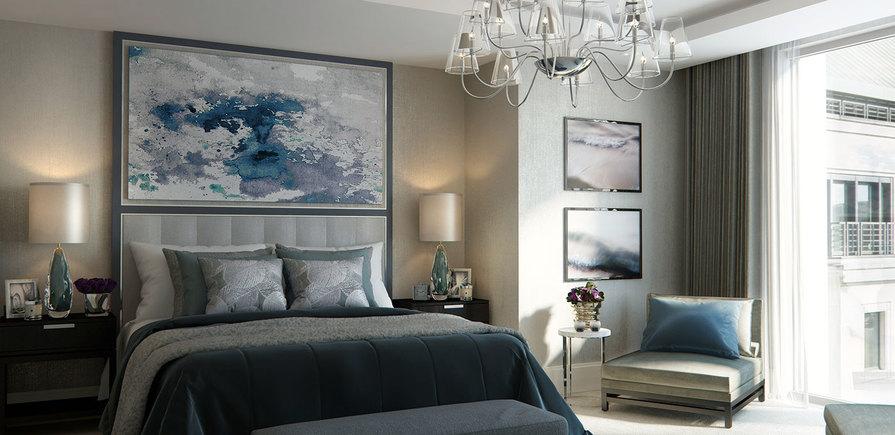 St Edward, 190 Strand, Savoy & Milford House, Master Bedroom, CGI, Interior