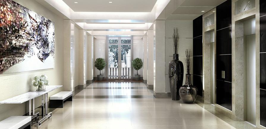 St Edward, 190 Strand, CGI, Entrance Lobby