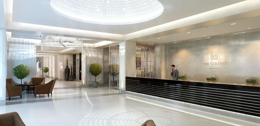 St Edward, 190 Strand, Concierge, CGI