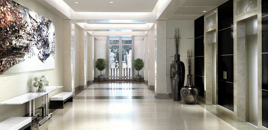 St Edward, 190 Strand, CGI, Entrance Lobby