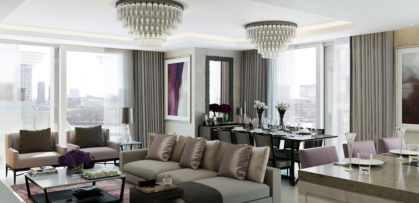 St Edward, 190 Strand, Penthouses, Bedroom