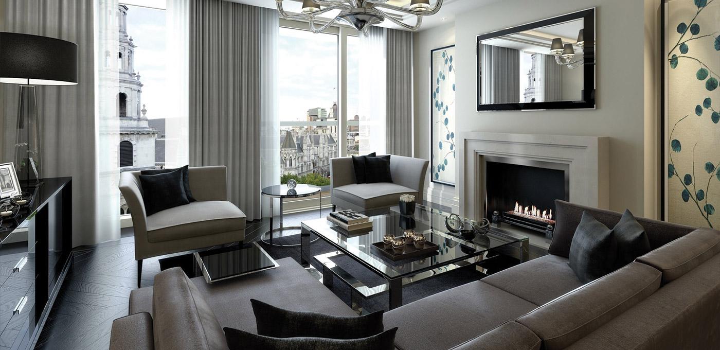 St Edward, 190 Strand, Penthouses, Living