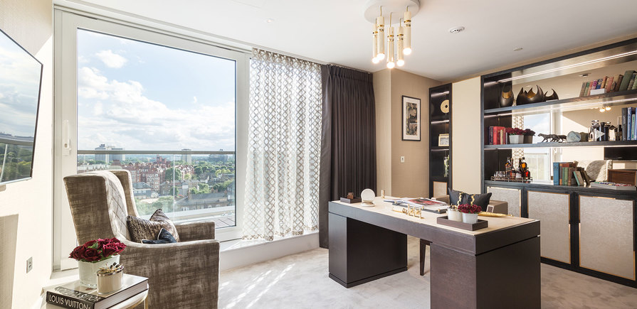 375 Kensington High Street, Benson House, Penthouse Show Apartment, Study, Interior
