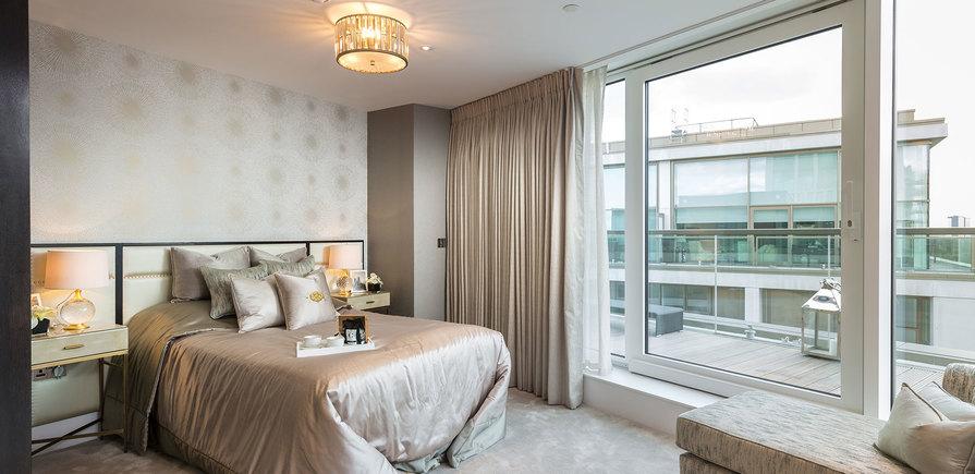 375 Kensington High Street, Benson House, Penthouse Show Apartment, Third Bedroom, Interior