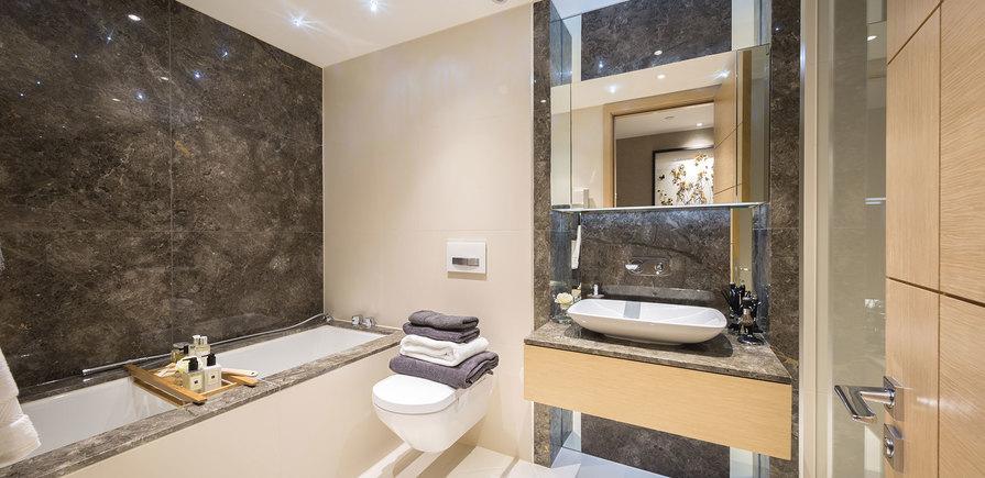 375 Kensington High Street, Benson House, Penthouse Show Apartment, Bathroom, Interior