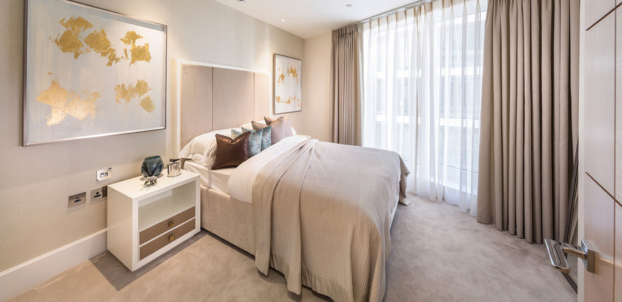 St Edward, 375 Kensington High Street, Benson House, Show Apartment, Bedroom, Interior