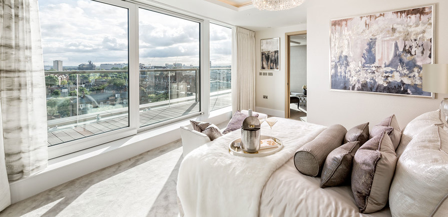 375 Kensington High Street, Benson House, Penthouse Show Apartment, Second Bedroom, Interior