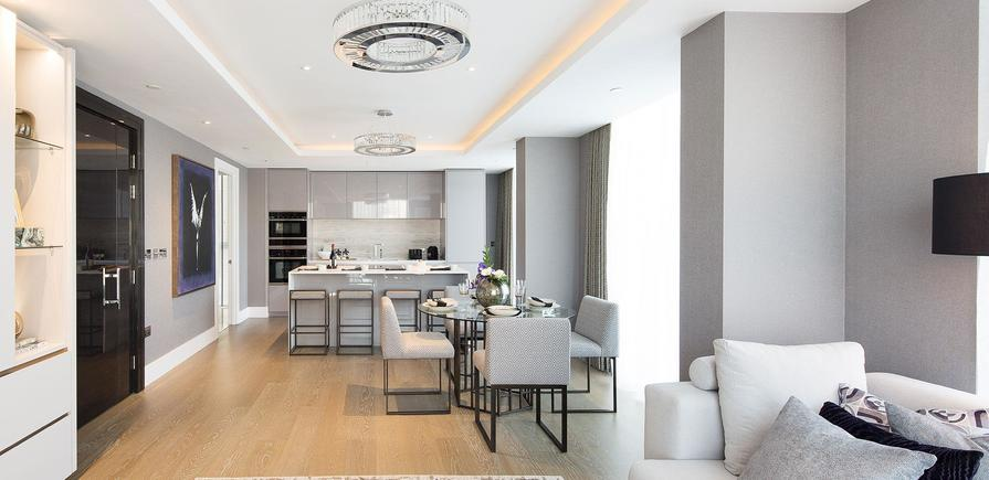 St Edward, 375 Kensington High Street, Edward House, Interior, Kitchen/Dining Area