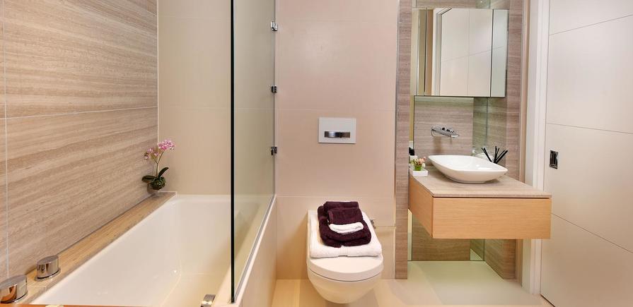 St Edward, 375 Kensington High Street, Benson House, Show apartment, Interior, Bathroom