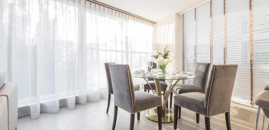 St Edward, 375 Kensington High Street, Benson House, Show Apartment, Dining Area, Interior