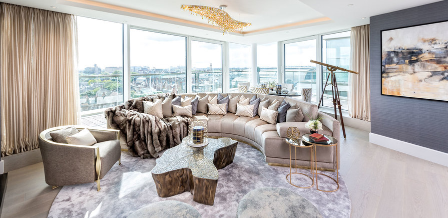 375 Kensington High Street, Benson House, Penthouse Show Apartment, Living Area, Interior