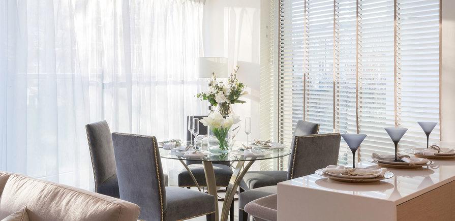 St Edward, 375 Kensington High Street, Benson House Show Apartment, Living Area, Interior