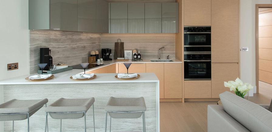 St Edward, 375 Kensington High Street, Benson House Show Apartment, Kitchen, Interior