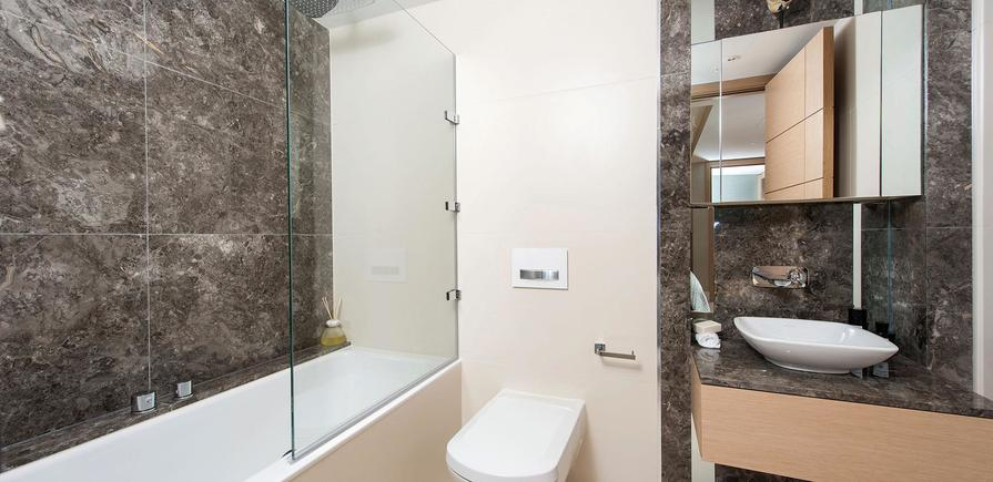 St Edward, 375 Kensington High Street, Benson House Show Apartment, Bathroom, Interior