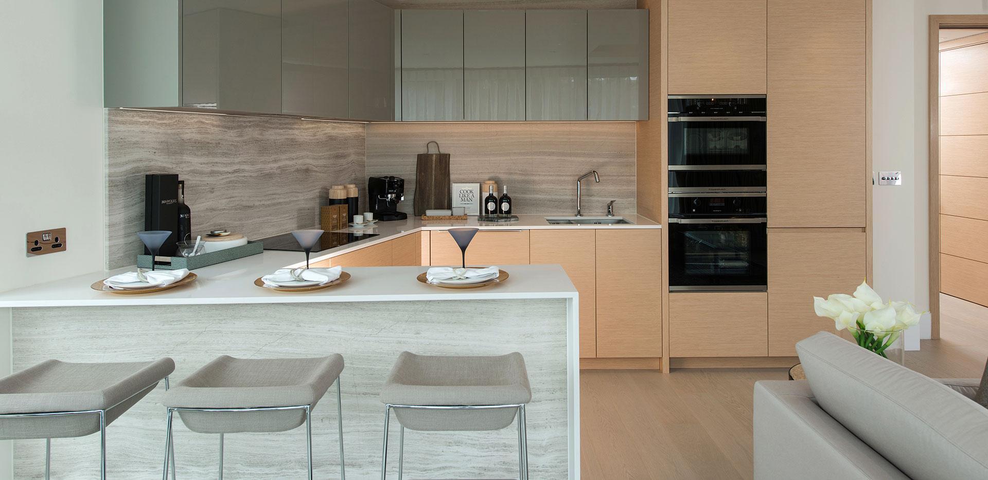 375 Kensington High Street, Benson House, Penthouse Show Apartment, Terrace, Evening