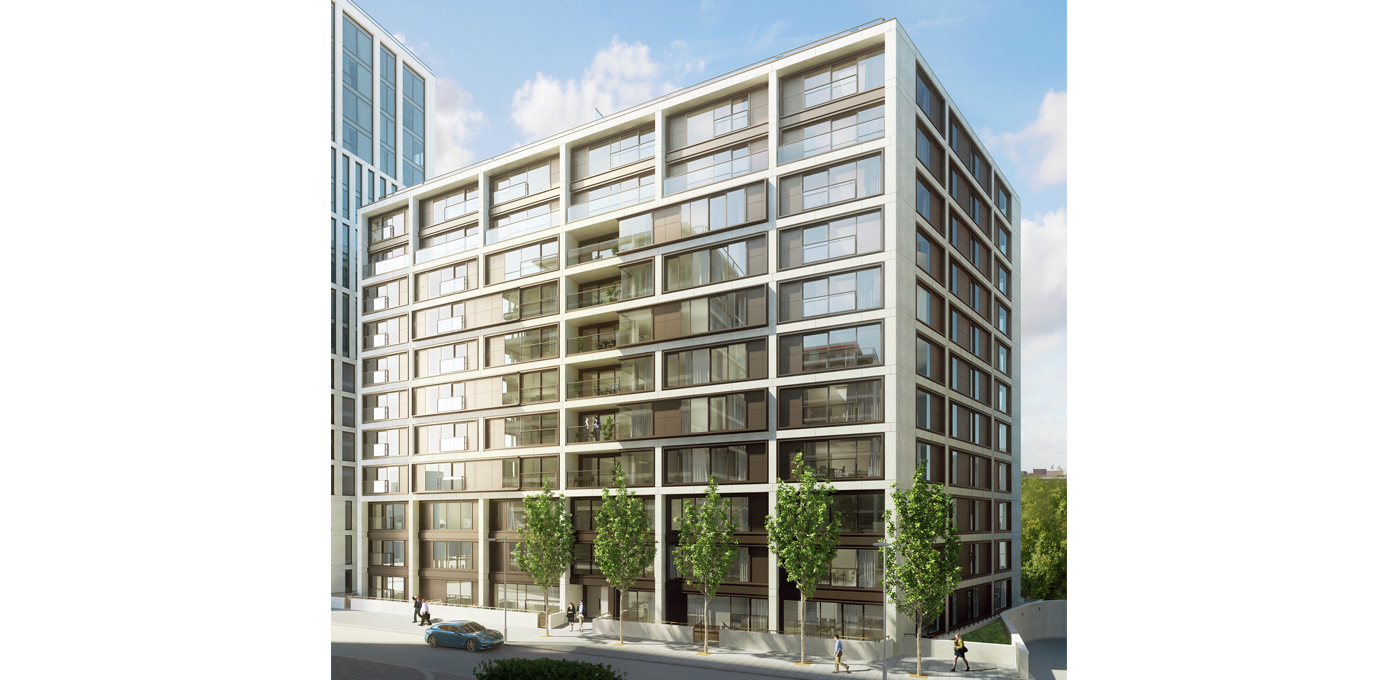 375 Kensington High Street, Benson House, Penthouse Show Apartment, Second Bedroom, Evening