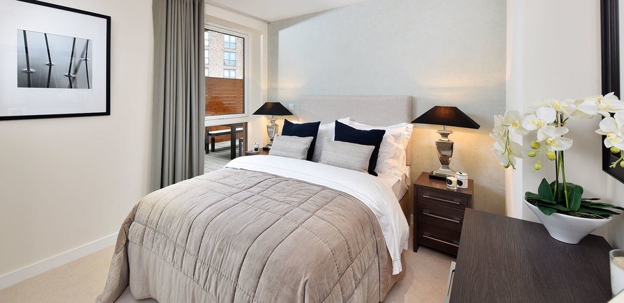 St Edward, Stanmore Place, Royal Crescent Show Apartment Second Bedroom, Interior