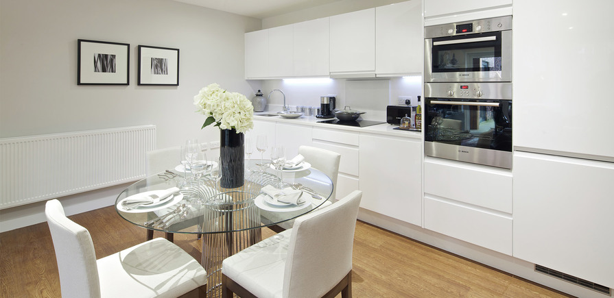 St Edward, Stanmore Place, Royal Crescent Show Apartment Kitchen, Interior