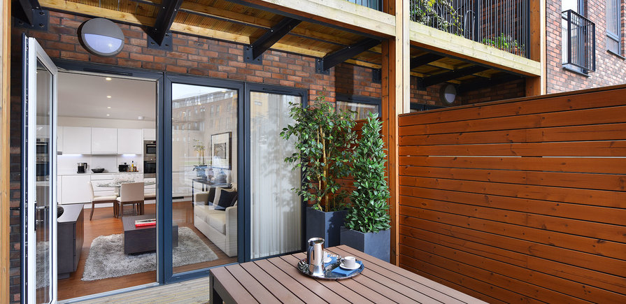 St Edward, Stanmore Place, Royal Crescent Show Apartment, Patio, Interior