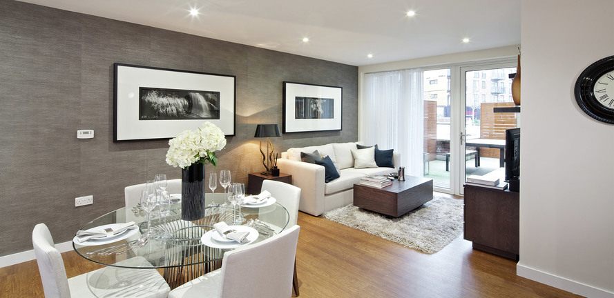 St Edward, Stanmore Place, Royal Crescent Show Apartment Living Area, Interior