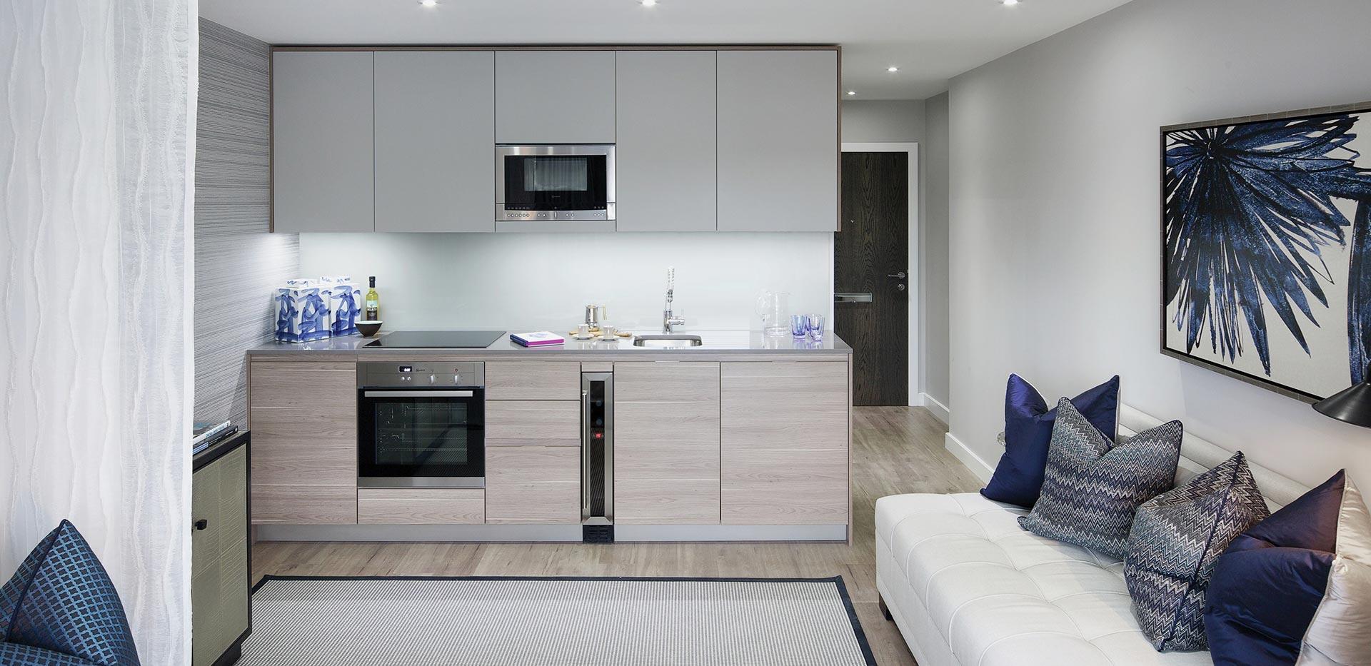 St George, Beaufort Park, Studio, kitchen