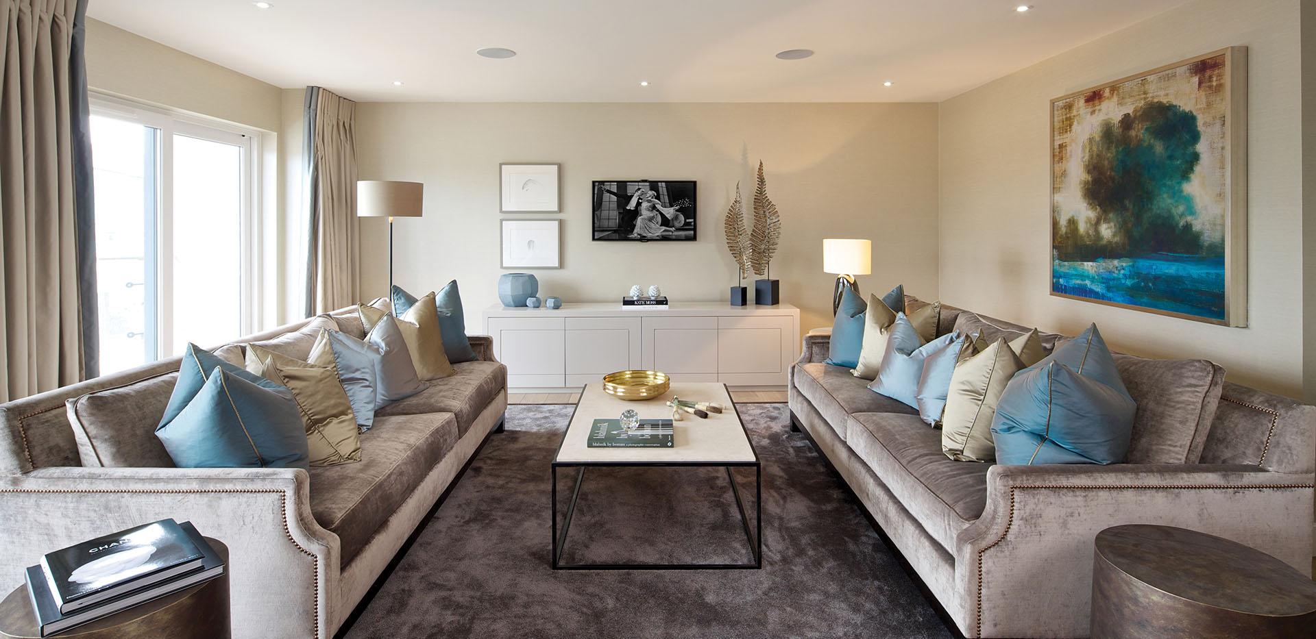 St George, Beaufort Park, 3 Bed, Premier, Living Room