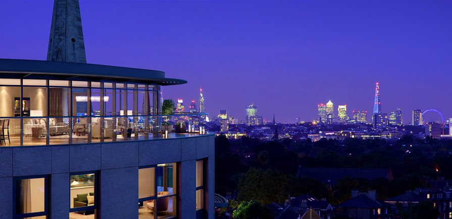 St George, Dickens Yard, Penthouse View of the Skyline