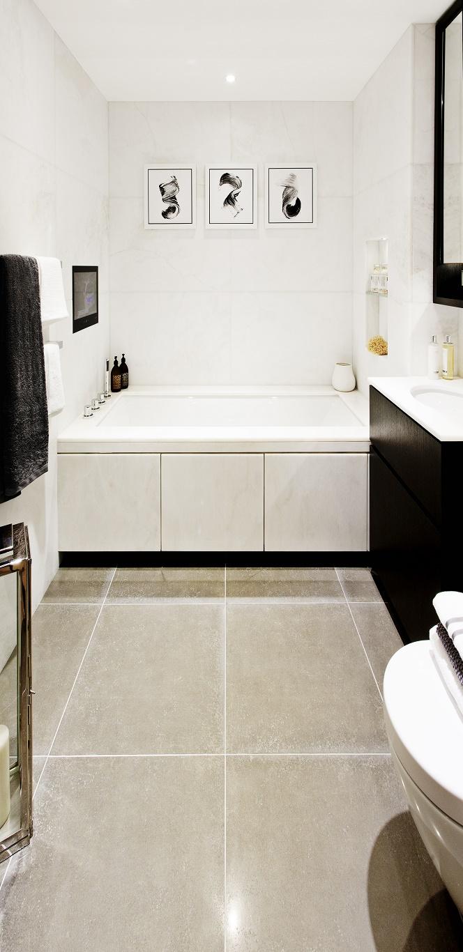 St George, Fulham Reach, Goldhurst House, Bathroom, White CGI