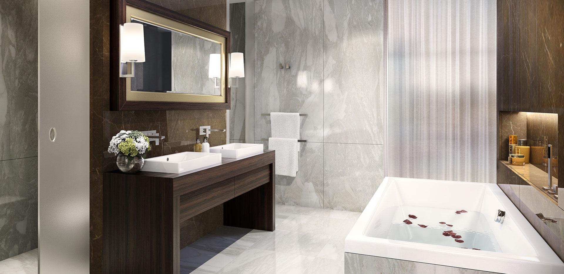 St George, Battersea Reach, Ensuite Bathroom, Apartments