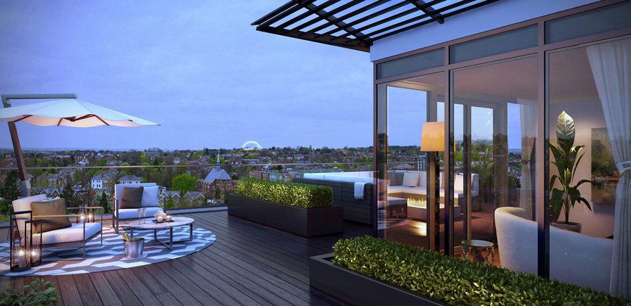St George, Dickens Yard, View, Window Terrace
