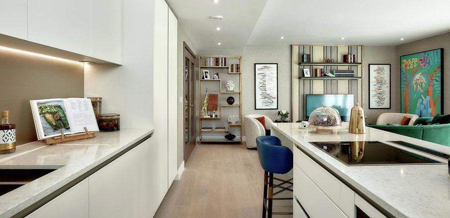 St George, Fulham Reach, Henley Apartments, Kitchen