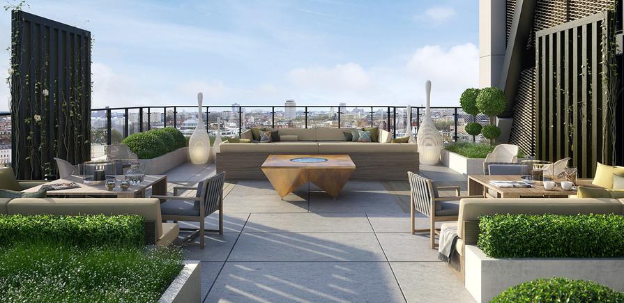 St James, Merano Residences, Roof Terrace, CGI, Interior