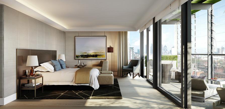 St James, Merano Residences, Bedroom, CGI, Interior