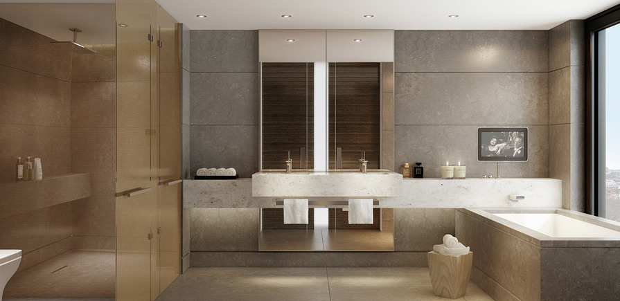 St James, Merano Residences, Bathroom, CGI, Interior