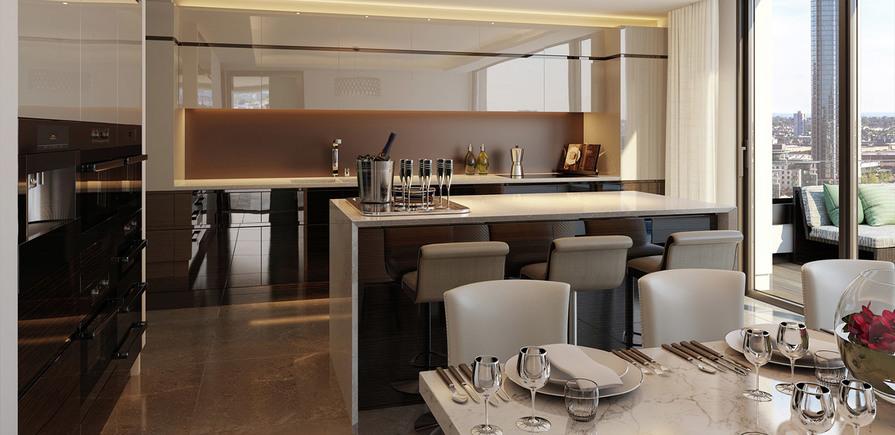 St James, The Corniche, Dining Area, Kitchen, Interior