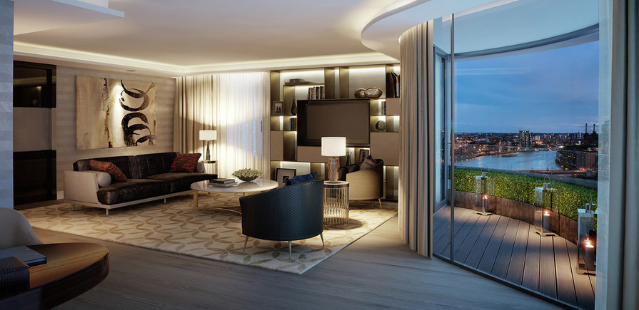 St James, The Corniche, Lounge, Living Room, Interior