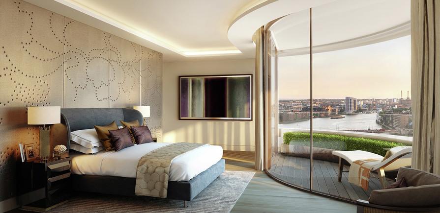 St James, The Corniche, Bedroom, Interior