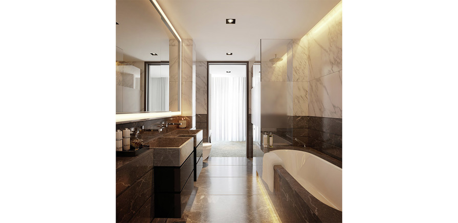St James, The Corniche, Bathroom, Interior