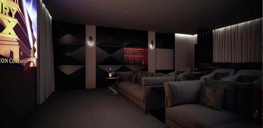 St James, The Corniche, Cinema Room, Residents Only, Interior