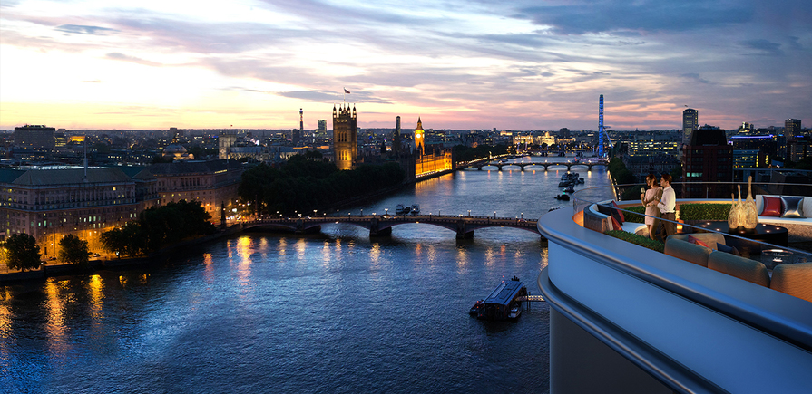 St James, The Corniche, Albert Embankment, Dusk, Parliament Views